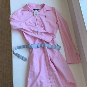 NWT Ralph Lauren Oxford dress. Size 8.